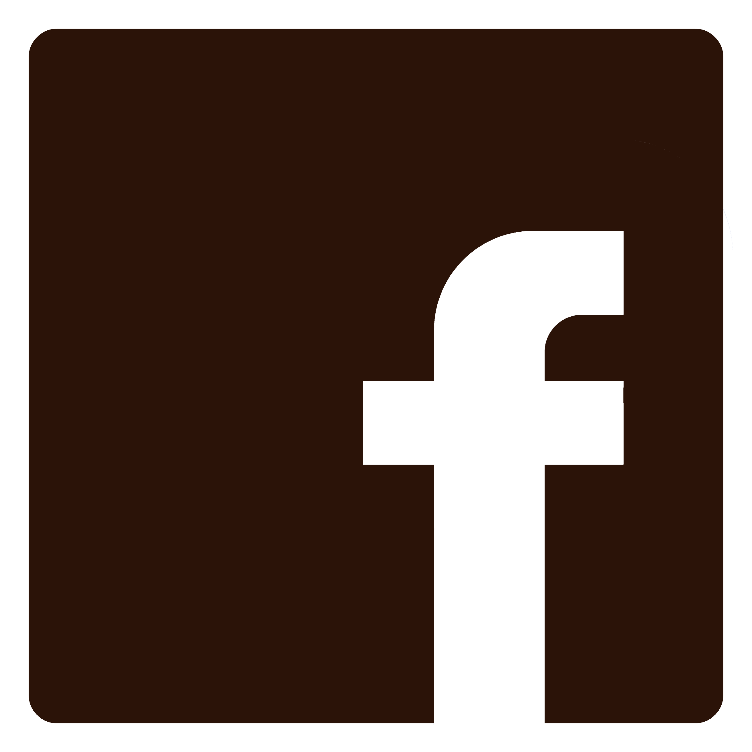 facebook white  brown